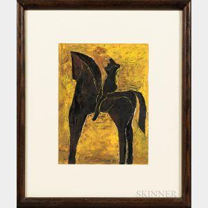 John Balossi (American, b. 1931)      Horse and Rider