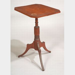 Federal Red-Stained Maple Candlestand