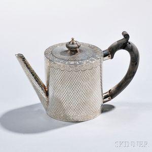 George III Sterling Silver Drum Teapot