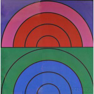 Arthur Mazmanian (American, 20th Century)      Air/Fire/Earth/Water