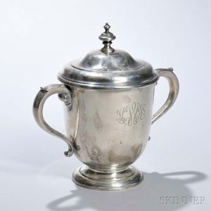 George V Sterling Silver Two-handled Covered Cup