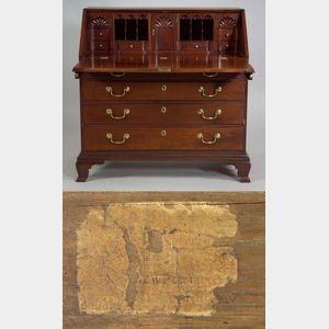Chippendale Mahogany Slant-front Desk