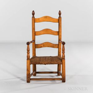 Maple Ladder-back Child's Armchair