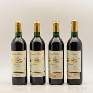 Chateau Clinet, 4 bottles