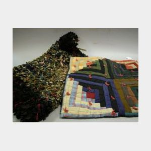 Dolls Log Cabin Quilt and a Shaker-style Rag Rug.