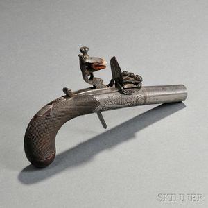 Manton Boxlock Flintlock Pistol
