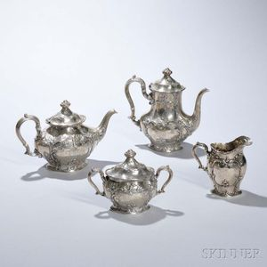 Four-piece Gorham Sterling Silver Tea and Coffee Service