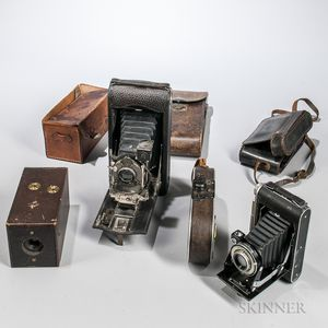 """Kodak No. 1, Bell & Howell """"Filmo Field Model,"""" and Two Other Cameras"""
