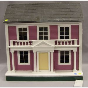 Tri-Ang Toys Georgian-style Painted Wooden Doll House.