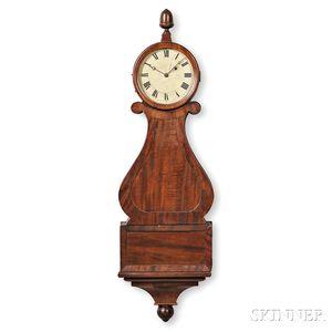"Mahogany ""Harp Pattern"" or Lyre Clock"