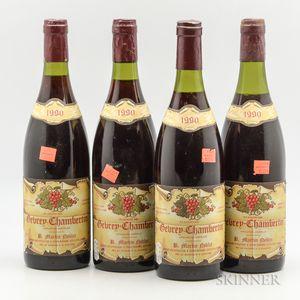 Martin Noblet Gevrey Chambertin 1990, 4 bottles