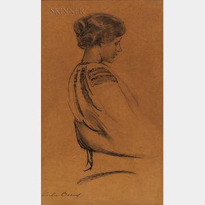 Cecilia Beaux (American, 1855-1942)      Lady in Profile