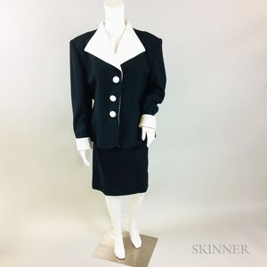 Christian Dior Black and White Suit