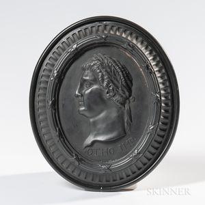 Wedgwood & Bentley Black Basalt Self-framed Portrait Plaque