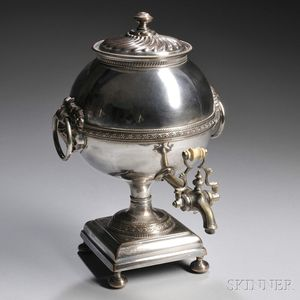 English Silver-plated Hot Water Urn