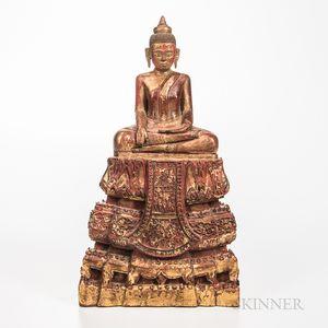 Giltwood Buddha