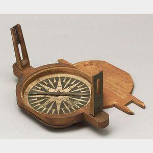 Rare Birch Surveyor's Compass by J. R. Lincoln