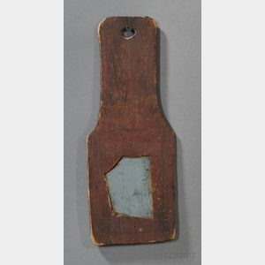 Red-painted Pine-framed Mirror Fragment