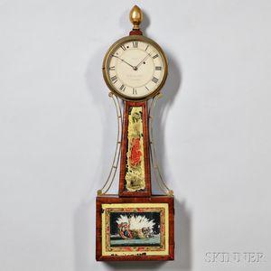 "Aaron Willard Jr. Patent Timepiece or ""Banjo"" Clock"