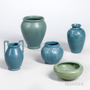 Five Pieces of Rookwood Pottery