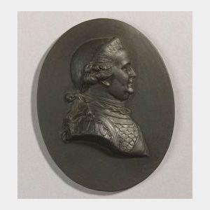 Wedgwood Black Basalt Portrait Medallion of Charles William Brunswick