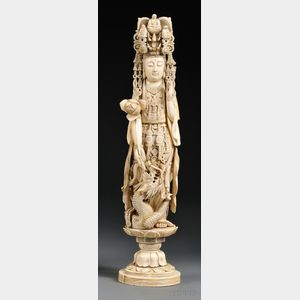 Tall Ivory Carving