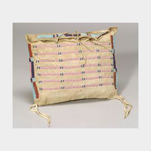 Northern Plains Beaded Hide Possible Bag