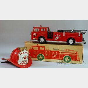"""Buddy L Metal """"Texaco Fire Truck"""" in Original Box"""