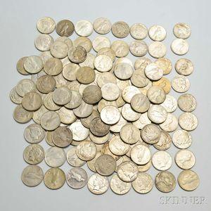 133 Assorted Peace Dollars.
