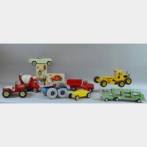 Ten Buddy L and Tonka Toy Vehicles