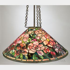 Tiffany Crimson Bouquet Mosaic Glass Hanging Lamp