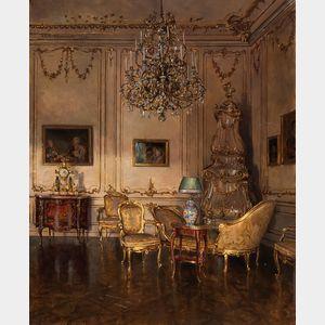 Lea Reinhart (Austrian, 1877-1970)      Aus den Salon d. Kaiserin Elisabeth, Schloss Schönbrunn