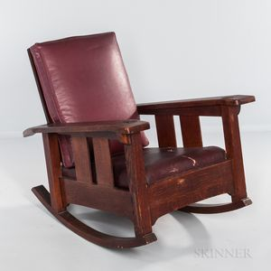 Limbert Arts and Crafts Furniture Model 846 Arm Rocker