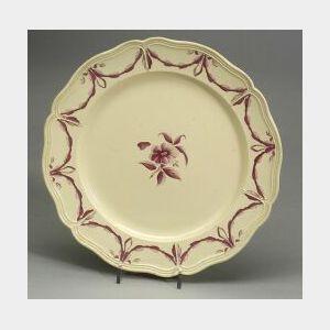 Twelve Creamware Husk Pattern Plates