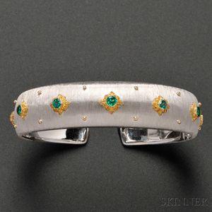 """18kt Gold and Emerald """"Macri"""" Bracelet, Buccellati"""
