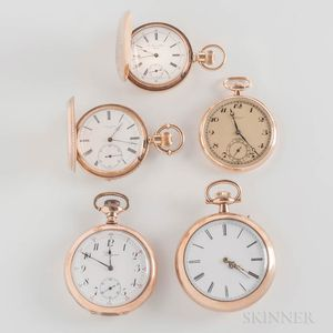 Five Swiss Pocket Watches
