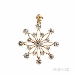Antique Diamond Pendant/Brooch, J.E. Caldwell