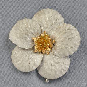 "18kt Gold ""Magnolia"" Brooch, Buccellati"