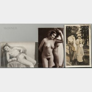 Attributed to Julian Mandel (French, 1872-1935)      Three Photographs of Alice Prin, Known as Kiki de Montparnasse