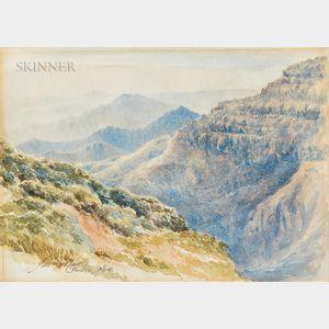 James McDougal Hart (American, 1828-1901)      A View Through the Mountains