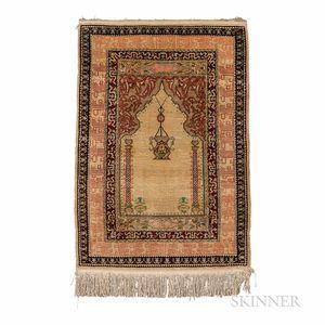 Silk Hereke Prayer Mat