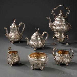 Edward VII Six-piece Sterling Silver Tea Service