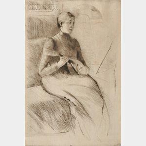 Mary Cassatt (American, 1844-1926)      The Mandoline Player (Joueuse de mandoline)