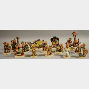 Fourteen Hummels/Goebels Porcelain Figures