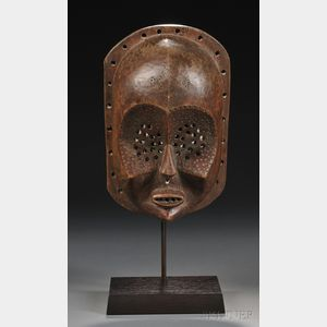 Lulua Carved Wood Mask