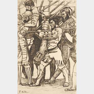Ferdinand Hodler (Swiss, 1853-1918)      Rückzug von Marignano
