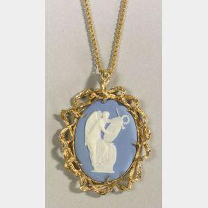 Wedgwood Solid Light Blue Jasper Medallion