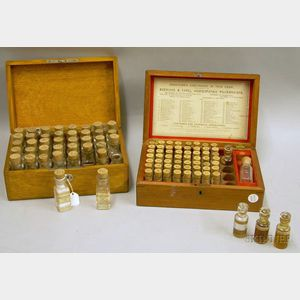 Two Domestic Homeopathic Medicine Chests