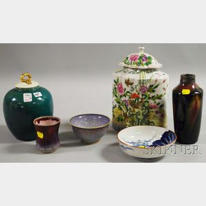 Six Assorted Asian Porcelain Articles