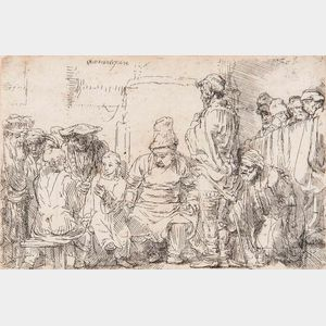 Rembrandt van Rijn (Dutch, 1606-1669)      Christ Seated Disputing with the Doctors
